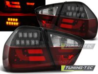 Zadné tuningové svetlá BMW E90 Sedan 05-08 Red White Black Led Bar