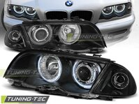 Predné svetlá BMW E46 Sedan/Touring 98-01 Angel Eyes Black