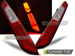 Zadné diodové svetlá Ford Focus MK2 Hatchback 04-08 Red White Led