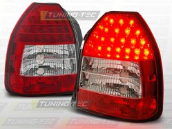 Zadné diodové svetlá Honda Civic 3D Hatchback 95-01 Red White Led