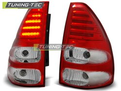 Zadné diodové svetlá Toyota Land Cruiser 120 03-09 Red White Led