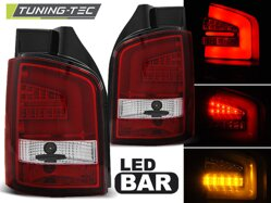Zadné svetlá VW T5 10-15 Red White Led Bar