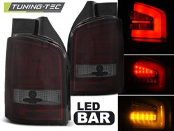 Zadné svetlá VW T5 10-15 Red Smoke Led Bar