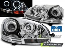 Predné CCFL Angel Eyes svetlá VW Golf 5 Chrome