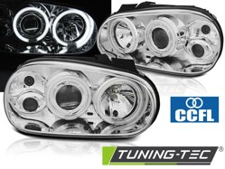 Predné CCFL Angel Eyes svetlá VW Golf 4 Chrome