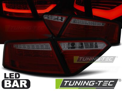 Zadné LED BAR svetlá Audi A5 07-11 Coupe Red Smoke