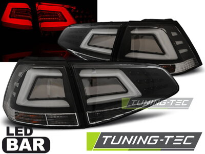 Zadné svetlá VW Golf 7 Black Led Bar