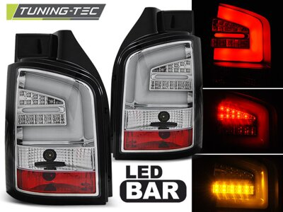 Zadné svetlá VW T5 10-15 Chrome Led Bar