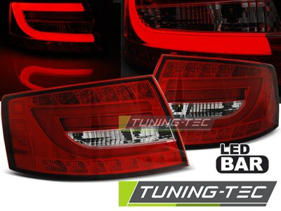 Zadné svetlá AUDI A6 C6 04-08 Red White Led 6-PIN