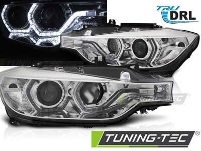 Predné svetlá BMW F30/F31 11-15 Angel Eyes LED Chrome DRL