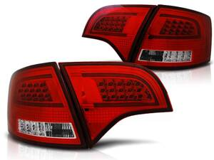 Zadné svetlá Audi A4 B7 04-08 Avant Red White Led Bar