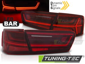 Zadné svetlá Audi A6 C7 11-14 Sedan Red White Led Bar SEQ