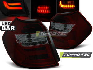 Zadné LED Bar svetlá BMW E81/E87 04-07 Red Smoke