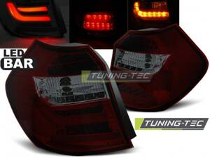 Zadné LED Bar svetlá BMW E81/E87 07-11 Red Smoke