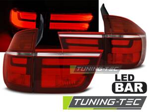 Zadné svetlá BMW E70 X5 07-10 Red White Led Bar