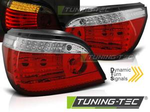 Zadné svetlá BMW E60 07-09 LCI Red White LED SEQ