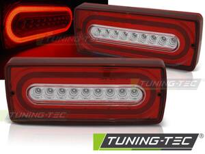 Zadné svetlá Mercedes W463 G 90-12 Red White Led Seq