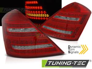 Zadné svetlá Mercedes W221 S 05-09 Red White Dynamic LED