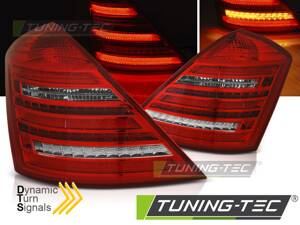 Zadné svetlá Mercedes S W221 05-09 Red White Dynamic LED