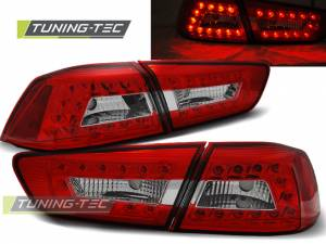 Zadné diodové svetlá Mitsubishi Lancer 8 Sedan 08-11 Red White Led