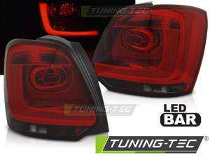Zadné diodové svetlá VW Polo 09-13 Red Smoke Led Bar