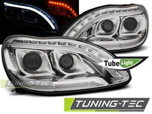 Predné Tube Light svetlá Mercedes S W220 98-05 Chrome