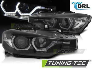 Predné svetlá BMW F30/F31 11-15 Angel Eyes LED Black DRL
