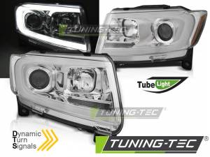 Predné svetlá Jeep Grand Cherokee WK2 11-13 Chrome Dynamic LED