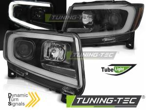 Predné svetlá Jeep Grand Cherokee WK2 11-13 Black Dynamic LED