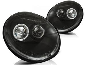 Predné Angel Eyes svetlá VW New Beetle 98-05 Black