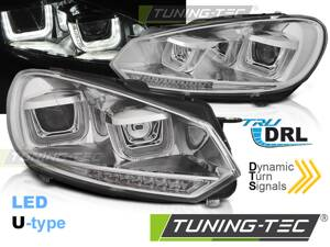 Predné svetlá VW Golf 6 U-Type Chrome Dynamic LED