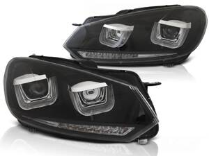 Predné svetlá VW Golf 6 U-Type Black Dynamic LED