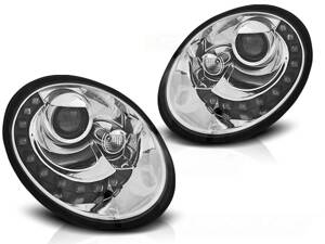 Predné svetlá VW New Beetle 06-12 Led Chrome